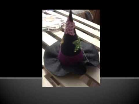 Fieltro. Manualidad con fieltro halloween Sombreros
