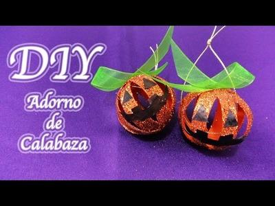MANUALIDADES ADORNO DE CALABAZA | HALLOWEEN DIY - YuureYCrafts