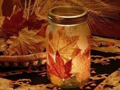 Manualidades con hojas secas fáciles