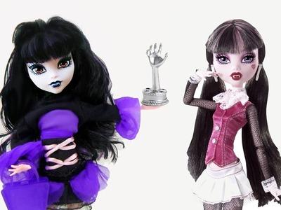 Manualidades para muñecas: Transformación con maquillaje de Draculara a Elissabat