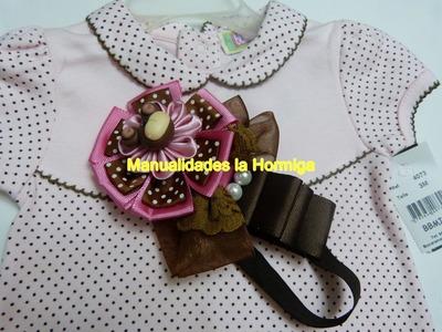 Moños faciles flores para decorar balacas para el cabello de las niñas