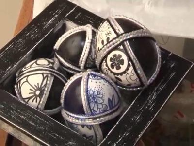 Objetos de arte con cascara de huevo