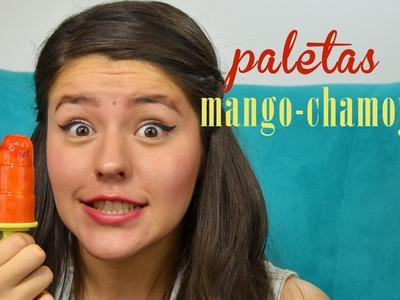 PALETAS MANGO CON CHAMOY-LIMON | MUSAS