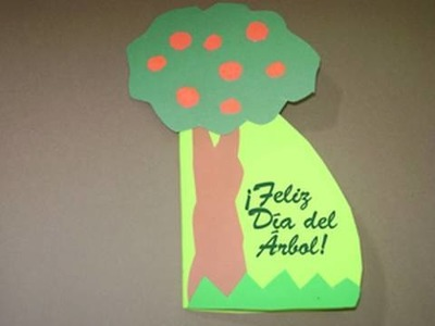 Tarjeta para el Día del Árbol