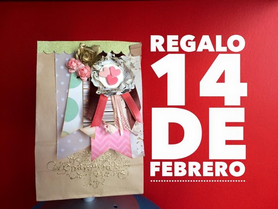 TUTORIAL Bolsita para regalo San Valentín.Valentine's Day Gift Bag