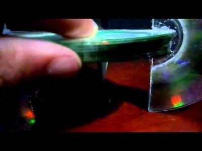 Tutorial Rápido para Crear una  Lámpara de CDs y DVDs Reciclados