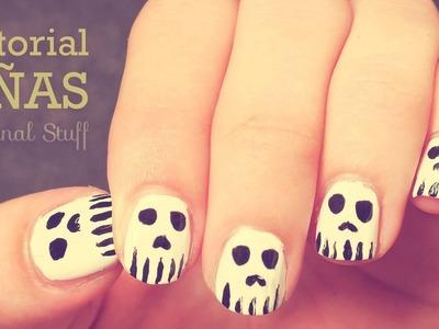 Calaveras [Diseño de uñas] • Halloween