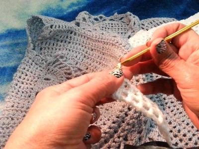 Chaleco Copo de Nieve a Crochet