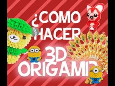¿Como hacer 3D ORIGAMI FACIL? (TUTORIAL en español) -Alex Avila