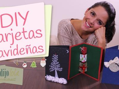 Cómo hacer tarjetas navideñas | DIY tarjetas para Navidad | Tarjetas personalizadas