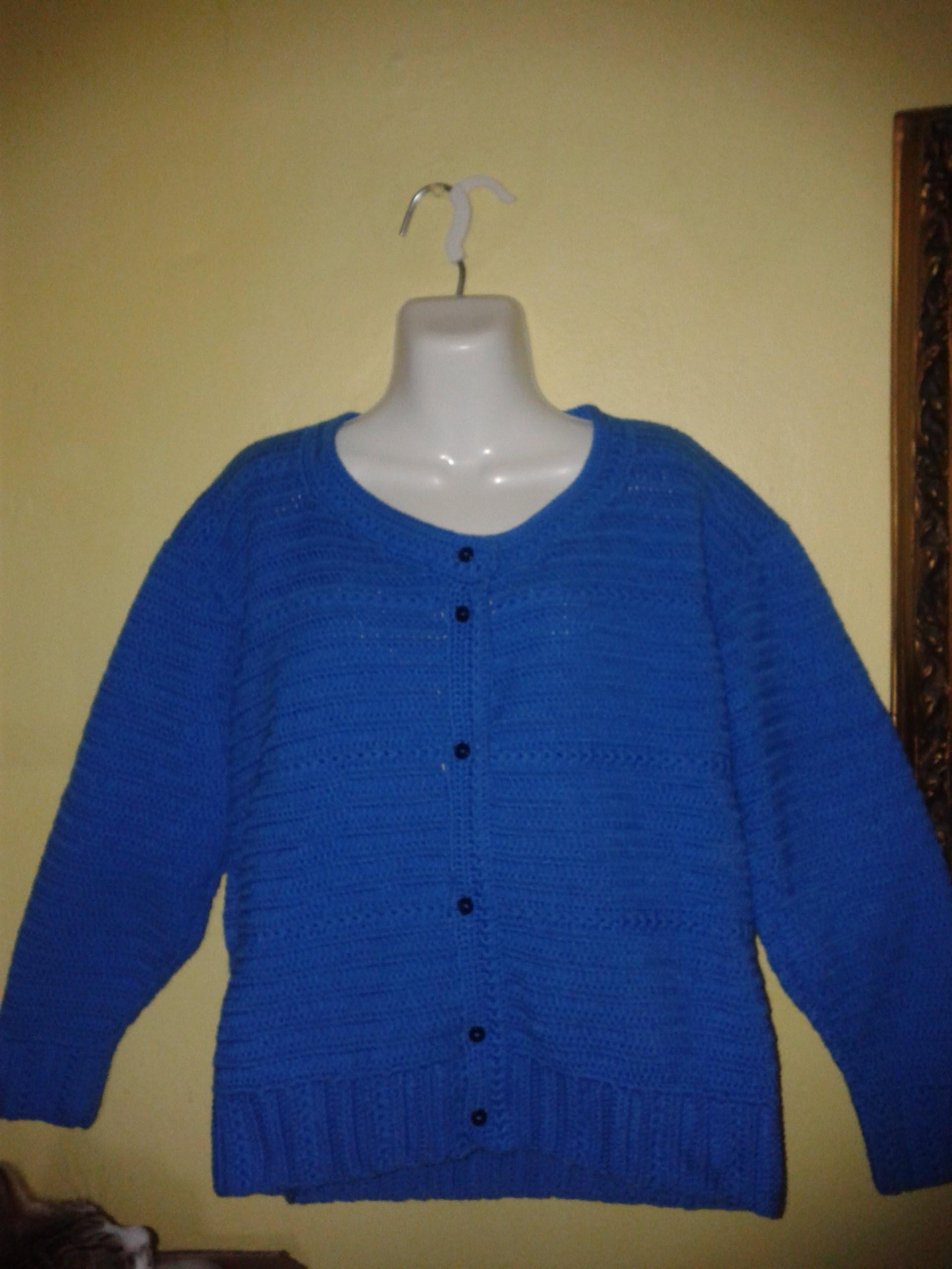 Cómo tejer un suéter para dama a gancho o crochet, 1a. Parte