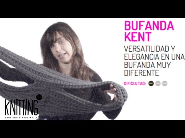 Cómo usar una Bufanda Kent de Knitting Point