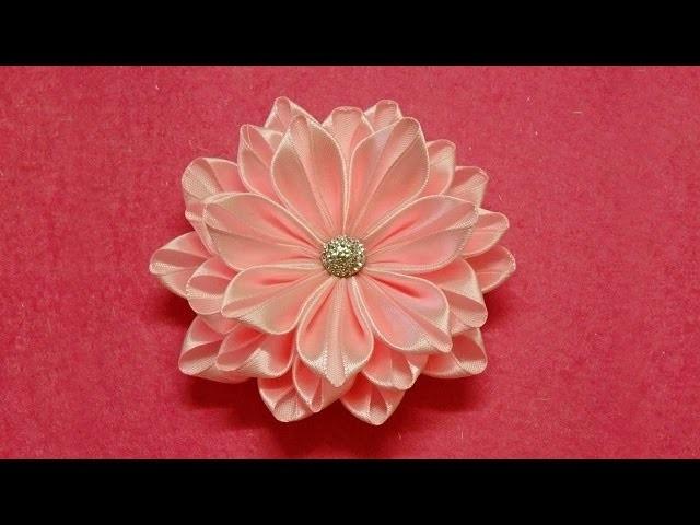 DIY Como hacer Flores Kanzashi Fácil y Rápido
