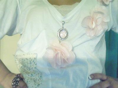DIY♡ Cómo hacer una flor de tela muy linda y versatil !!! :D