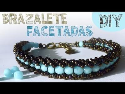 DIY PULSERA FACETADAS MIYUKI (FACETED BRACELET) ♥ Qué cositas