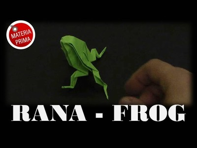 Rana de Origami. How to make a frog