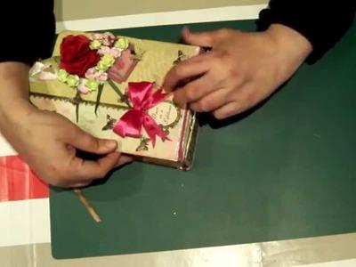 Scrapbook para principiantes 4: Parte III, tag minialbum  y cómo hacer un lazo doble muy fácil