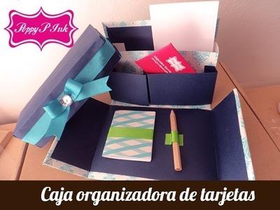 Caja organizadora tarjetera- Scrapbook