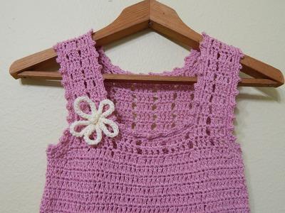 Vestido para niña Crochet parte 2 de 3