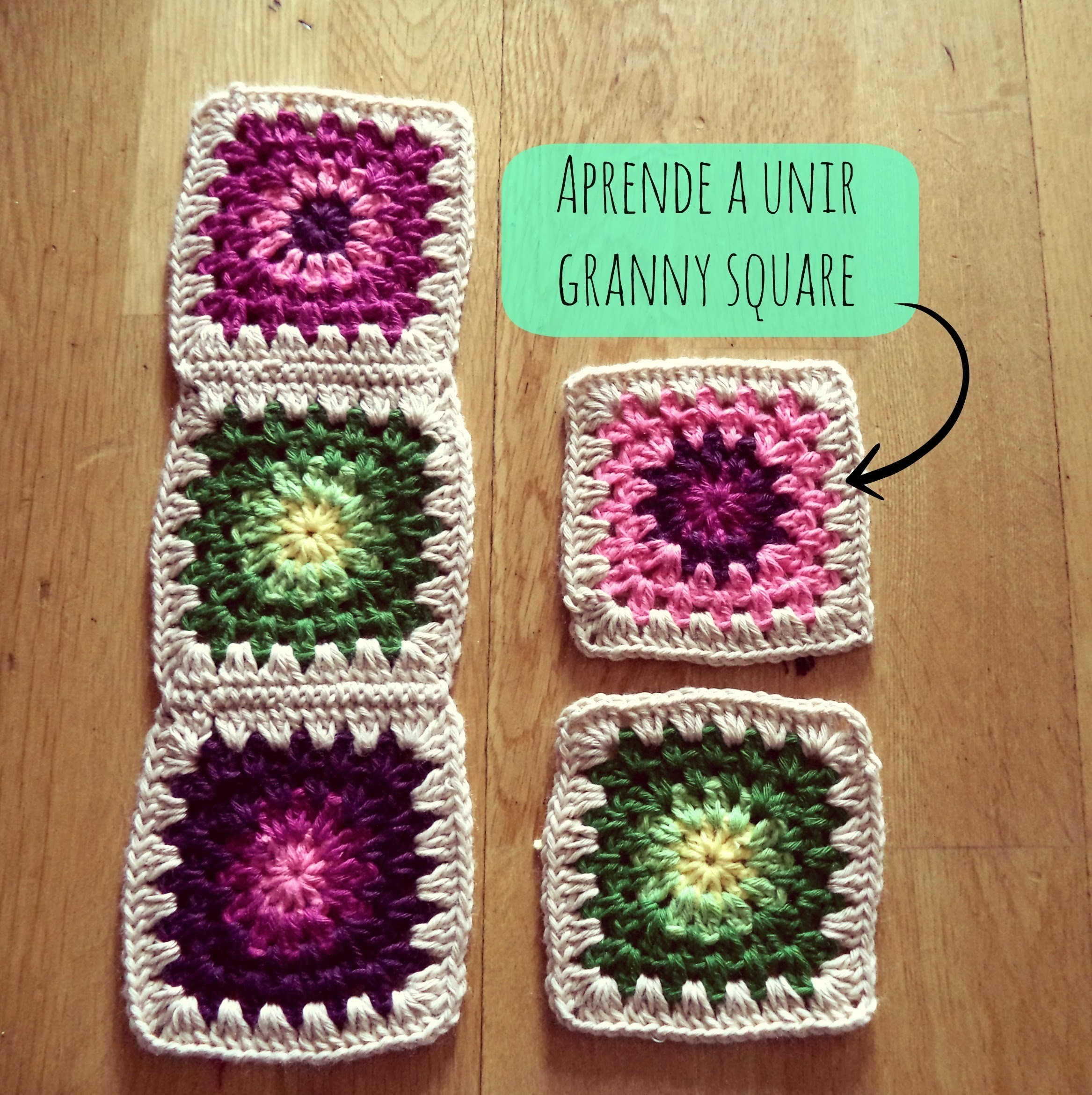 Cómo unir granny square - How to join granny square