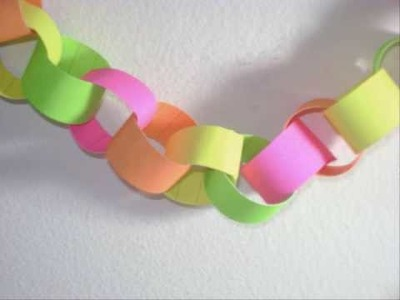 Cadena de papel decorativa