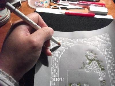 Tarjeta de saludo en papel vegetal paso a paso (proyecto Nº1)