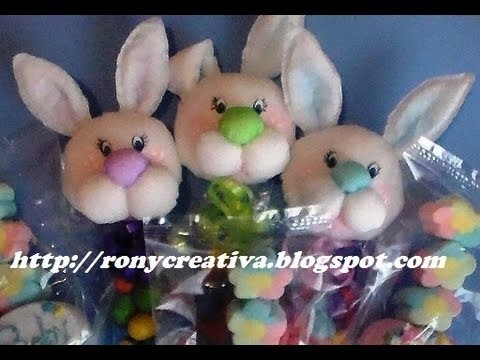 CONEJITO PARA BABYSHOWER (PAPEL CREPE). PAPER BABYSHOWER BUNNY