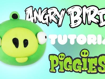 Angry Bird Pig Polymer Clay Tutorial | Cerdo de Angry Bird Porcelana Fría. Plastilina