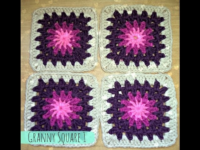 Aprender a hacer GRANNY SQUARE - How to make GRANNY SQUARE (TUTORIAL)