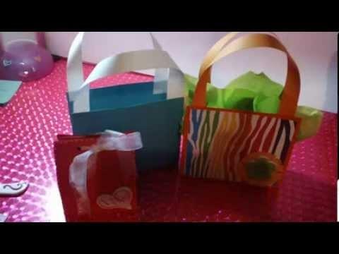 Bolsita de regalo scrapbook facil | Como hacer bolsas de regalo originales