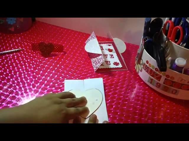 CARTA CORAZON pop open SCRAPBOOK ORIGINAL Y FACIL