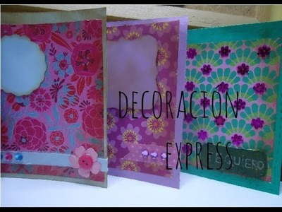Cómo decorar tarjetas (manualidad express) SCRAPBOOK MANIA [episodio 10]