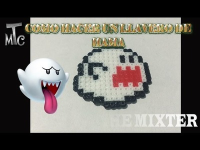 Como Hacer Un Fantasma boo (Super Mario Bros) | Tutorial de Hama Beads | The Mixter Channel