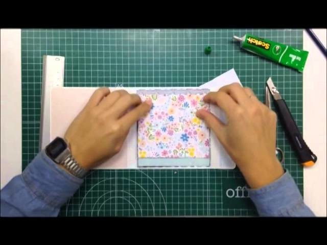 Cómo hacer y decorar un mini álbum para pocas fotos - TUTORIAL Scrapbook