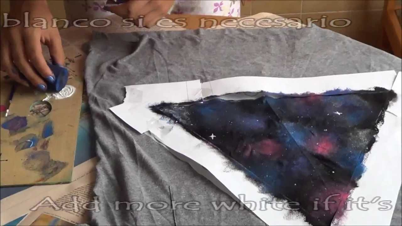 DIY Galaxy t-shirt. Camiseta de galaxia