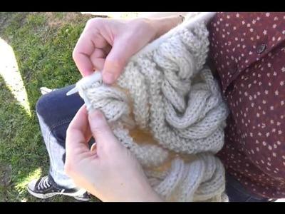DIY: HACER OCHOS EN PUNTO CON DOS AGUJAS (crochet). TO SEW POINT IN THE SHAPE OF EIGHT (CROCHET)