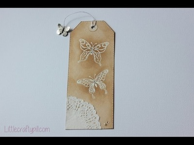 DIY: marcapáginas en forma de etiqueta. Bookmark tag