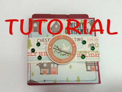 DIY tutorial mini album navidad manualidad facil y barata idea para regalar