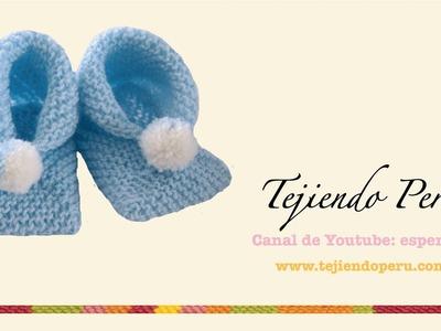 Dos agujas: cómo tejer zapatitos para bebés de dos cuadrados