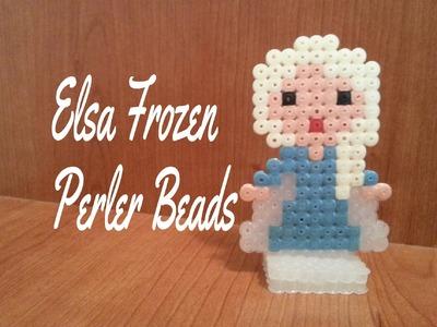 ღ Elsa Frozen Perler Beads ღ