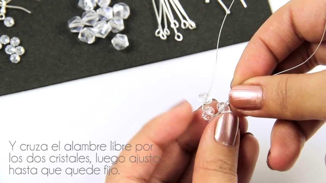 Fashion Topic El Galeón Clear Crystal Earrings