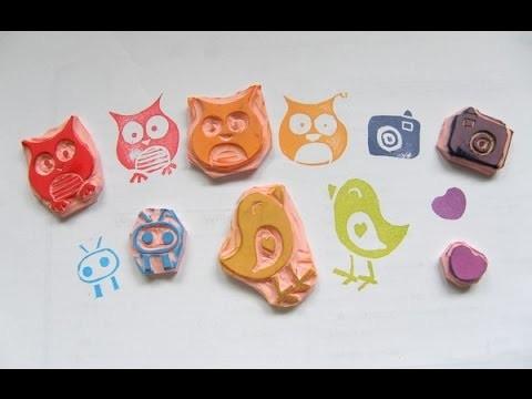 Haz tus propios sellos - DIY stamp carving