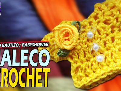 Recuerdo Bautizo o Baby Shower - Chaleco - Sueter a Crochet