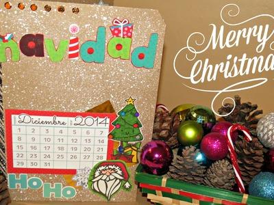 Album navideño - tutorial scrapbook ♥♥ con material que tenemos en casa