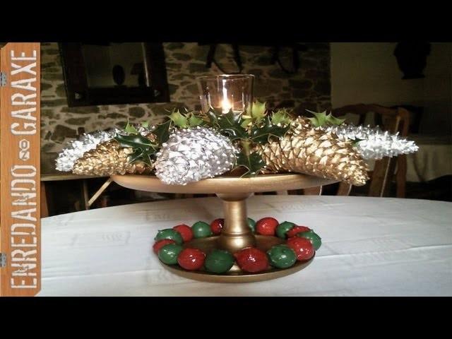 Centro de mesa de Navidad 2011. Christmas table centerpiece.