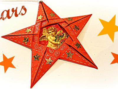 Como hacer estrellas de papel. How to make paper stars.