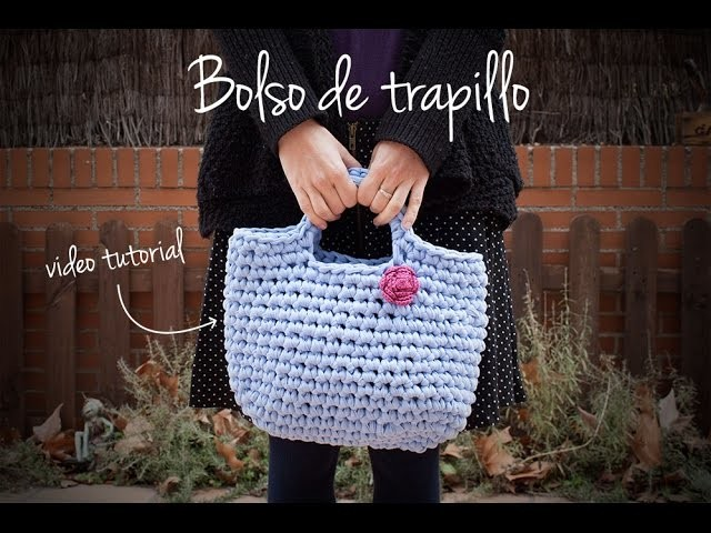 Cómo hacer un bolso de trapillo | How to make a zpagetti crochet handbag