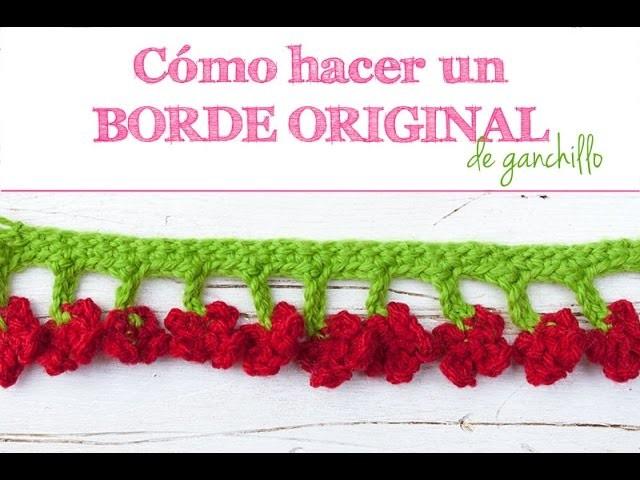 Cómo hacer un borde de ganchillo | How to make a crochet border