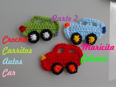 """Crochet Tutorial Carrito.Coche """"Toñito"""" (Parte 2) - Car - Häkeln Applikation Auto"""