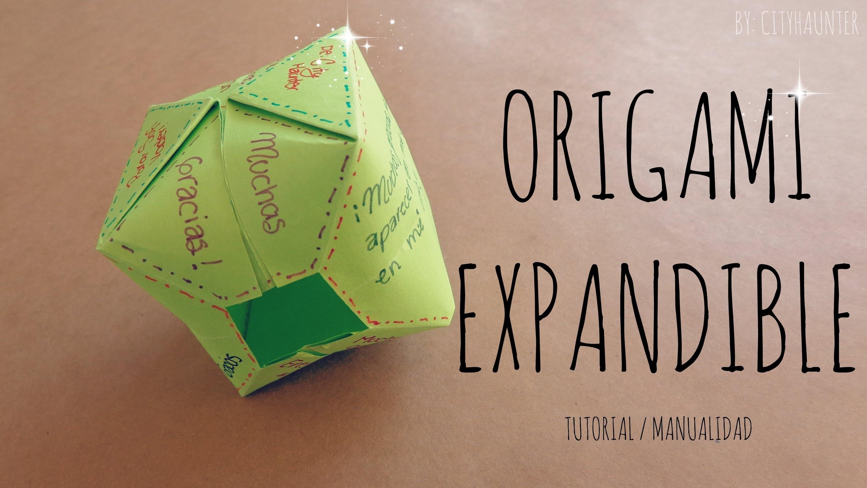 DIY - Como hacer una carta inflable {FACIL}. Origami Expandible